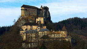 Orava slott, Slovakien arkivbilder