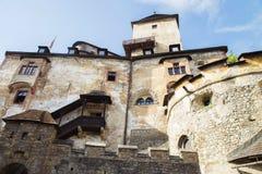 Orava slottOravsky hrad slovakia Historia torn royaltyfri bild