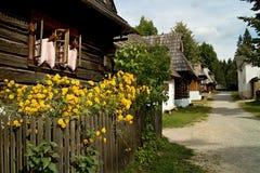 Orava Village Museum in Zuberec-Brestova, Slovakia. Stock Image