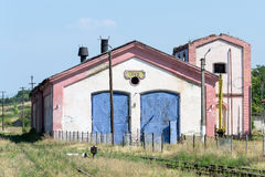 Oravita-Lokomotivdepot Lizenzfreie Stockfotos