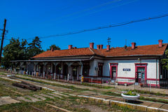 Oravita Train Station. The train station in Oravita, Caras-Severin, Romania, the starting point of Romania's oldest and most spectacular railway route, Oravita Stock Image