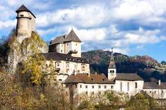 oravsky的城堡 库存图片
