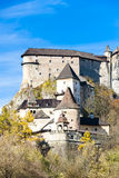 Oravsky Castle. In autumn, Slovakia royalty free stock images