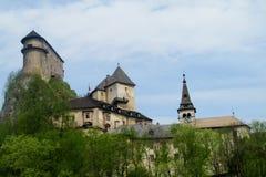 Oravsky castle in Slovakia. Oravsky hrad castle in Slovakia. Oravsky zamok stock images