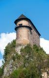 Oravsky Castle in Slovakia stock image