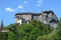 Oravsky castle. Slovakia oravsky podzamok 2016 august 9 oravsky castle on the rock stock photo
