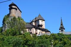 Oravsky castle. Slovakia oravsky podzamok 2016 august 9 oravsky castle on the rock royalty free stock photo