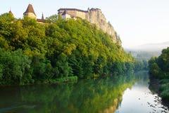 Oravsky hrad. Slovakien fotografering för bildbyråer