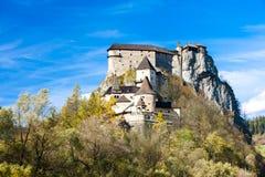Oravsky Schloss lizenzfreie stockfotos