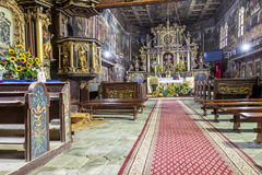 Interior of St John the Baptist church - Orawka, P Stock Images