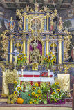 Altare in St John la chiesa battista - Orawka, Polonia. Fotografia Stock
