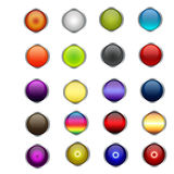 Orb/Aqua buttons. Orb/Aqua button web button design with 20 different colors Royalty Free Stock Photography
