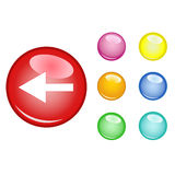 Orb arrow down. Orb arrow left with six empty orb Royalty Free Stock Image