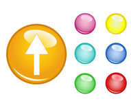Orb arrow up. Vector EPS Stock Image