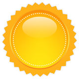 Orb blank icon. Isolated on white Royalty Free Stock Image