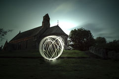 Orb at the church Stock Image