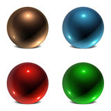 Orb Collection #1. Collection of 4 Three Dimensional Spherical Orbs Royalty Free Stock Photo