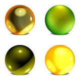 Orb Collection #2. Collection of 4 Three Dimensional Spherical Orbs Stock Image