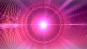Orb glanst Roze achtergrond en cirkel rond de zon stock illustratie