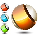 Orb logo Stock Photo