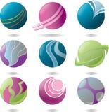Orb logo elements. Abstract logo elements and symbols Stock Photos