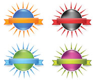 Orb ribbon. That works great on product packaging or on the web as an icon Stock Photo