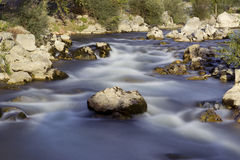 The Orb River. The fast flowing waters of the River Orb in France Stock Photo