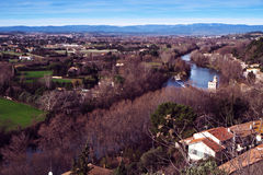 The Orb River in Beziers, France Royalty Free Stock Image