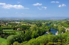 Orb river in Beziers landscape Royalty Free Stock Photos