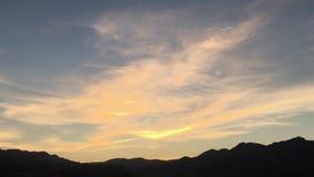 Τοπίο ηλιοβασιλέματος κοντά σε Orba, Ισπανία απόθεμα βίντεο