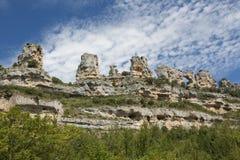Orbaneja del Castillo, Burgos fotografie stock libere da diritti
