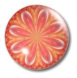 Orbe anaranjado del botón de la flor Fotos de archivo libres de regalías