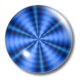 Orbe azul del botón de la ondulación Imagen de archivo