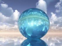 Orbe cristalino stock de ilustración
