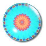 Orbe de centro anaranjado del botón Imagenes de archivo