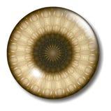 Orbe de centro del botón del Web site de Brown Imagenes de archivo