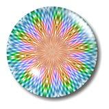 Orbe de cristal del botón de la tela escocesa multicolora Foto de archivo libre de regalías
