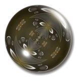 Orbe del botón de Brown Foto de archivo