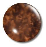 Orbe del botón de la concha Imagen de archivo libre de regalías