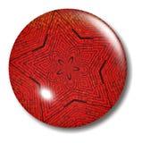 Orbe del botón de la estrella del ladrillo rojo Fotografía de archivo libre de regalías