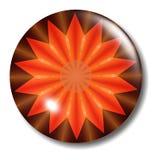 Orbe del botón del fuego Foto de archivo libre de regalías
