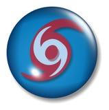 Orbe del botón del huracán Imagen de archivo libre de regalías