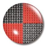 Orbe del botón del juego de la tarjeta del póker 4 Imágenes de archivo libres de regalías
