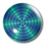 Orbe del botón del verde azul Fotografía de archivo