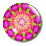 Orbe en flor verde rosado del botón del Web site Fotografía de archivo libre de regalías