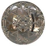 Orbe o botón de plata stock de ilustración