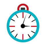 Orbed clock time concept, graphic Royalty Free Stock Photo