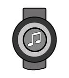 Orbed watch with media icon on the screen,  graphic Stock Photos