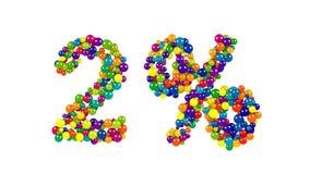 Orbes coloreados dinámicos que forman el 2 por ciento Imagen de archivo libre de regalías