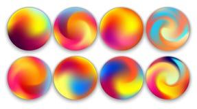 Orbes coloridos de la pendiente, ejemplos fijados Imagenes de archivo